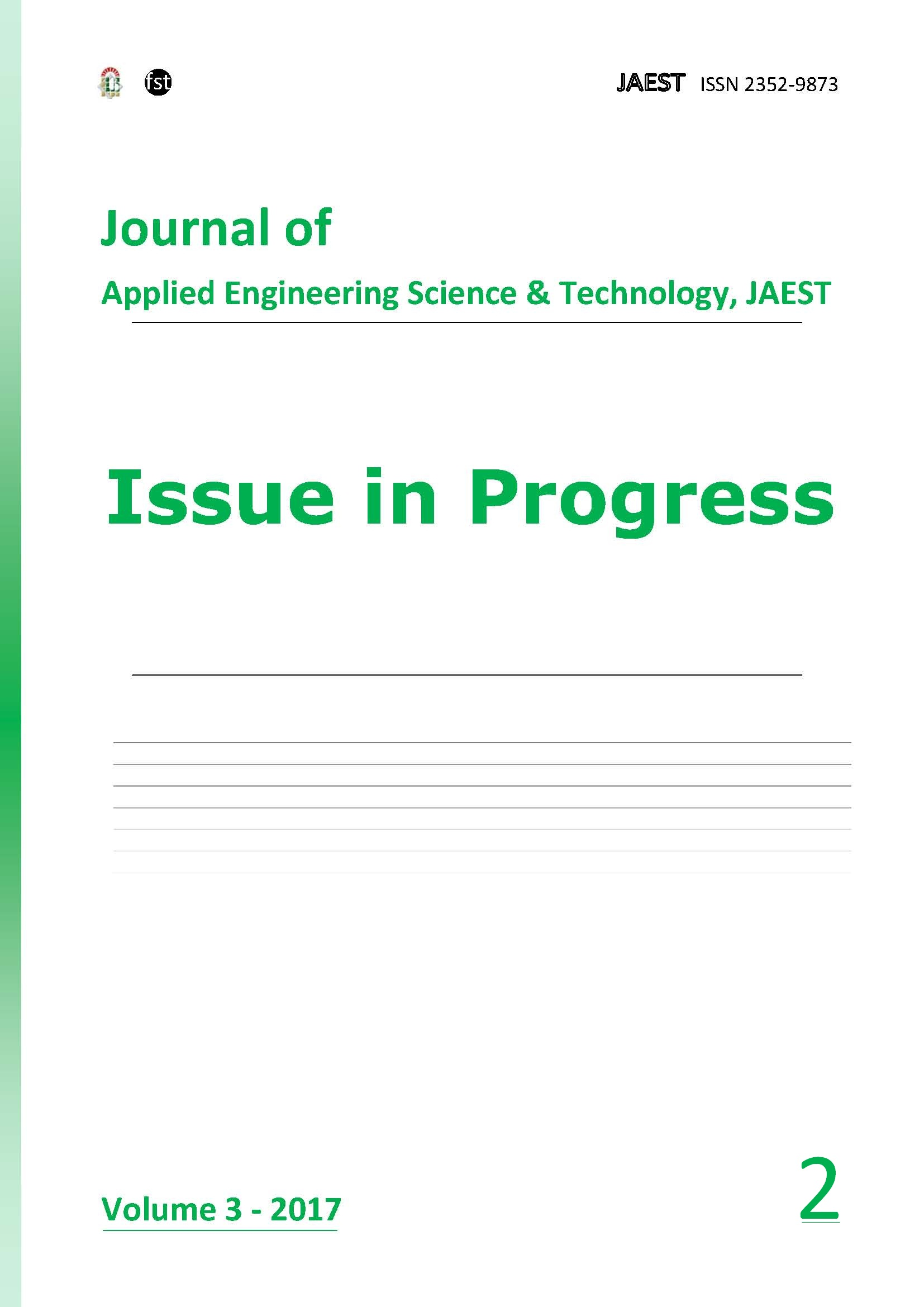 JAEST: Volume 3, Issue 2, December 2017